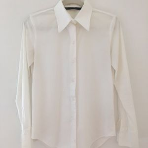 Zara Woman White Tailored Shirt, Size M